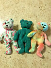 Ty Beanie Babies - Peace, Wallace, and Joaquim - Free Shipping! Nice!