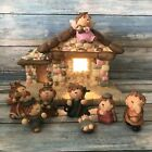 Lighted Indoor Nativity Set 8 Pieces Small Christmas Decoration Tabletop