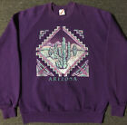 Vtg 90s Arizona Cactus Sweatshirt L USA Nature Wildlife Sedona 80s Art Vaporwave