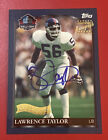 1999 Lawrence Taylor Topps Football HALL OF FAME Autograph Class Auto SSP GIANTS