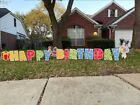 2021NEW YARD SIGN HAPPY BIRTHDAY LARGE YARD SIGN 17 PCS with 17 METAL STAKES