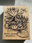 PSX WATER LILIES BOTANICAL FLOWERS K1438 Rubber Stamp