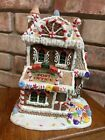RARE Vtg LEMAX CHRISTMAS Village Peppermint Patty Post Office 2004 Lighted House