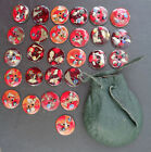1976 COPPER enamel 27 BUTTONS Mille FIORI clothing DECORATION jacket SILVER Leaf