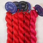 Planet Earth single strand silk collection Valentine Reds needlepoint threads