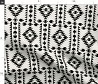 Black White Panel Native Spoonflower Fabric by the Yard