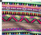 Pattern Aztec Native Pink Colorful Zigzag Spoonflower Fabric by the Yard