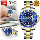 Presidential Reginald Two Tone Bezel Sapphire Glass Luminous Quartz Silver