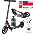 Adult Kids Kick Scooter Adjustable Folding Lightweight Aluminum 200MM Wheels US