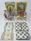 Vintage Cabbage Patch Kids Birth Certificates Stickers PVC Figures Toy Lot