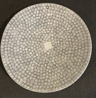 Vetro Artistico Murano Thousand Flowers Italian Art Glass Plate White W Sticker