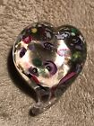 Art Glass Heart Paperweight