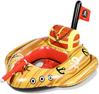 Unomor Giant Pool Floats for Kids with Built in Squirt Gun and Pirate Ship Des