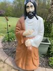 Vintage Empire Blow Mold Life Size Nativity Shepherd lighted