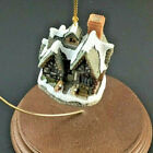 Vintage David Winter Cottages Scrooge's School special Christmas Ornament 1992