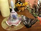 Fenton Art Glass Bell and Butterfly Beautiful Together