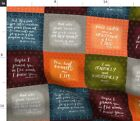 Bible Baby Quilt Cheater Panel Gender Neutral Spoonflower Fabric by the Yard