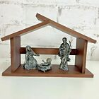 LENOX Kirk Stieff Collection Holy Family Mary Joseph Baby Jesus Creche Pewter
