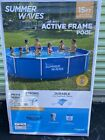 Summer Waves 15 ft Active Metal Frame Pool W Filter Pump  FREE POOL COVER