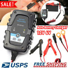 12v 6v Auto Battery Charger Motorcycle Trickle Float For Tender Maintainer Car