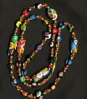 Vintage Venetian Murano Millefiori Art Glass Bead 29 Necklace