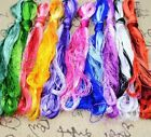 Silk Embroidery Thread 30 50 100 Skein Multicolor Floss Threads Handmade Weawing