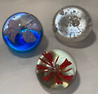 Lot of 3 Art Glass Paperweights