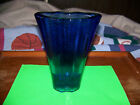 Fire And Light Glass Co Aurora Vase Cobalt Blue SIGNED Recycled Glass