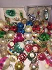 Large lot vintage glass Christmas ornaments