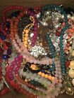 Huge 24+ Lb Lot Of Vintage To Now Jewelry Necklaces Bracelets Rings Pins More