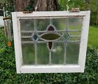OLD ENGLISH LEADED STAINED GLASS WINDOW Pretty Diamonds Designs 215 x 175