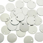 Stainless steel Blank Pendants Stamping Tags Flat Round 26 x 15mm 10 pk