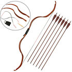 Archery Traditional Recurve Bow Takedown Design+ 6X Carbon Arrows Hunting Target