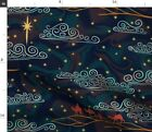 Constellations Christian Astrology Nativity Spoonflower Fabric by the Yard