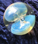 Signed 1989 Eickholt Double Jellyfish Opalescent Paperweight