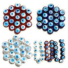 Evil Eye Handmade Lampwork Loose Glass Drilled Beads For Jewellery Making