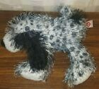 Ty Beanie Babies Punkies Black & White Spotted Puppy Dog