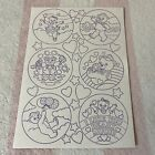 Vintage Lisa Frank Bears Hearts Stars Color Your Own Sticker Sheet