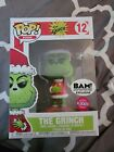 Funko Pop 12 The Grinch Stole Christmas Dr. Seuss Flocked BAM Exclusive