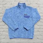 Patagonia Synchilla Print Fleece Snap T Pullover Sweater Size S Blue