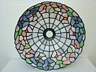 Spectacular 14 PINK BLUE PANSY Stained Glass FLOWER Lamp Shade TIFFANY STYLE