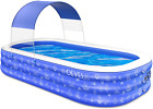 Inflatable Swimming Pool For Kids And S Full Sized Family Kiddie Blow Up Swim P