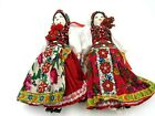 Vintage Pair of Geisha Dolls with Beaded Sequin Dresses