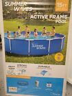 Summer Waves 15 x33 Above Ground Swimming Pool Metal Active Frame Set PICK UP