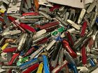 Lot of 32 Random Swiss Army Type Knives Gov Confiscated