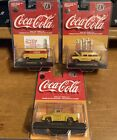 M2 Machines Diecast Coca Cola Yellow Series Chevy VWFORD 1 750 Chase Piece Set