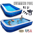 10ft Inflatable Swimming Pools Above Ground Pool W Air pump Kids Family Outdoor
