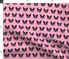 Terrier Glasses Dogs Cute Print Home Baby Pet Spoonflower Fabric by the Yard