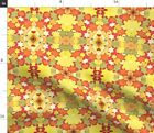 Delight Holiday Hanukkah Gorgeous Starbursts Spoonflower Fabric by the Yard