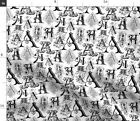 Alphabet Letter Name Type Font Monogram Initial Spoonflower Fabric by the Yard